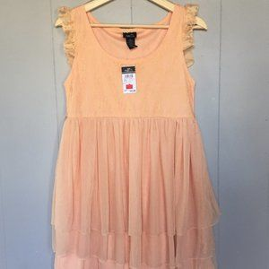 rue 21 Floral Lace and Chiffon Tulle Dress